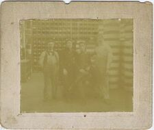 Antique Photo Group of Workers in a Hardware Store Storeroom