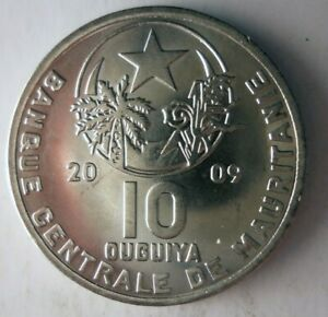 2009 MAURITANIA 10 OUGUIYA - AU - Exotic Interesting Coin BIN PPP