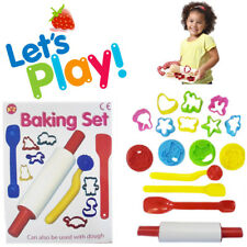 14pc Kids Baking Set Girls Play Toy Role Roller Cutter Mould Kit Activity Gift