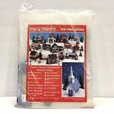 Mary Maxim Plastic Canvas Needlepoint Musical Village Kit #7060 Post Office