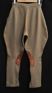"Vintage B & B Brown Suede Knee Pads Riding Jodhpurs Trousers W26"" L28"" 1940's"