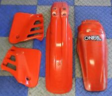 1987 Honda Cr125r Plastics Set Fenders Shrouds