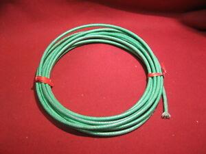 SRML Green 14 AWG 10 Feet FIBER GLASS BRAID HI TEMP WIRE Stage Light Wires
