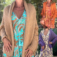 Damen Langarm Cardigan Strickpulli Pullover Winter Warm Mantel Sweater Longshirt
