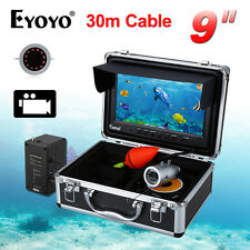 "30m 9"" LCD 1000TVL Infrared Fishing Camera Fish Finder 8GB DVR Cam Professional"