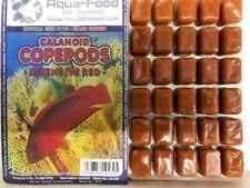 Premium Frozen Fish Food 5 x100g packs-Copepods intense red + vitamins-FREE P&P