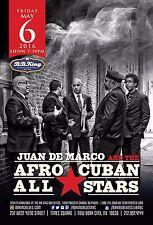 JUAN DE MARCO AND THE AFRO-CUBAN ALL STARS 2016 NEW YORK CONCERT TOUR POSTER