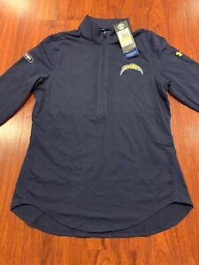 Under Armour Women's Los Angeles Chargers Combine 1/2 ZIP Jacket Jersey Medium M