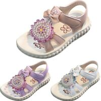 Children Kids Baby Girls Fashion Open Toe Flower Sandals Pearl Princess Shoes AU