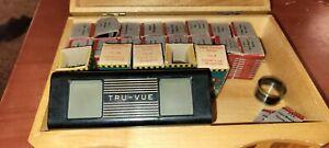 Vintage 1950s  Tru-Vue 3-Dimensional Lighted Slide Viewer with 18 Reels