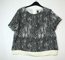 BLACK GREY IVORY WHITE LADIES FORMAL PARTY TOP BLOUSE TOPSHOP SIZE10 FULLY LINED