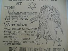 Vintage 70s White Witch Concert Handbill Rock N' Roll Poster Montgomery Alabama