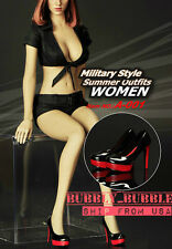 1/6 Sexy Military Style Summer Outfits Set W/ Shoes For Hot Toys  SHIP FROM USA