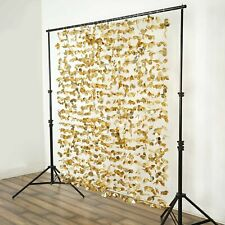 Gold Flower Garland Backdrop 6ft x 6 ft Stage Party Wedding Catering Decoration