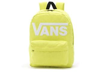 VANS Scurry Old Skool 3 B BACKPACK Lemon Yellow Laptop Bag Women's VN0A3I6RRHT