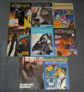 STAR WARS,RETURN OF THE JEDI VINTAGE LOT ORIGINAL COMICS,WEEKLY.COMIC,SET.P12806