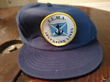 Vintage E.L.M.A. Argentine lines cruise trucker hat ball cap with patch broken