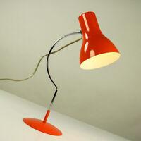 Tisch Leuchte Josef Hurka Napako Lampe Orange Modell 0521 Vintage 60er 70er