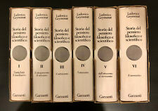 Storia Pensiero Filosofico Scientifico. Ludovico Geymonat. 6 vol. 1970.