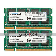 """4GB 2x2GB PC2-5300S DDR2 667 CL5 Memory Fr MacBook Pro 17"""" Early/Late 2008 A1261"""