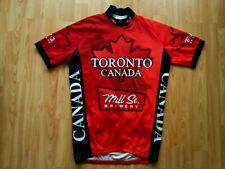 Toronto CANADA Maple Leaf Short Sleeve 3/4 Zip Cycling Jersey Size: 5~L