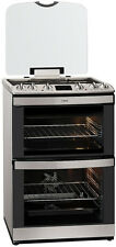 AEG 47132MM-MN 60cm A Rated 74L 4 Burner Dual Fuel Cooker In Stainless Steel