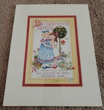 "New Mary Engelbreit Matted Picture/Print - 8X10 - ""Be Kind To Thy Sister"""