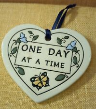 """3"""" Trinity Pottery """"One Day At A Time"""" Plaque"""