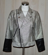 NWT Minkpink Silver Fox Motorcycle Style Jacket Sharp Size Small Originally $139