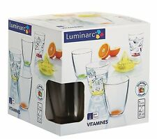 Luminarc loco Colores vitaminas 4pc Vaso Set (31cl) + gratis Cítricos de Prensa