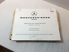 Mercedes 190SL Spare Parts List Edition D