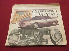 1993 Flint MI Michigan Buick 90th Anniversary Newspaper: Three History Sections!