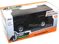 JADA JUST TRUCKS 97052 2014 JEEP WRANGLER 1/32 DIECAST MODEL CAR BLACK