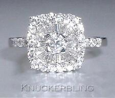 Diamond Ring 0.80ct G VS2 Baguette and Brilliant Cut set in 18ct White Gold