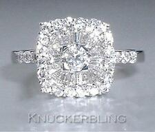 Diamond Ring 1.00ct G VS2 Baguette and Brilliant Cut set in 18ct White Gold