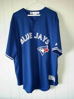 Majestic Cool Base MLB Toronto Blue Jays baseball jersey mens Sz 2XL NWOT