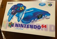 Brand New Nintendo 64 N64 System - Clear Blue Edition Console - NTSC-J Japanese