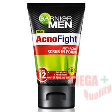 Garnier Men Acno FightWash face Scrub Foam Anti Acne whitening Dullness 100ml