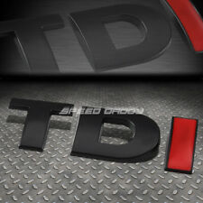 FOR VW TDI GOLF/JETTA METAL BUMPER TRUNK DOOR GRILL EMBLEM DECAL BADGE BLACK RED