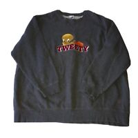 Vintage 1995 Warner Bros Studio Store Tweety Bird Gray Sweatshirt Mens Size 2XL
