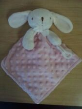 Blankets and Beyond Bunny Rabbit Baby Security Lovey Pink w/ Pacifier Holder
