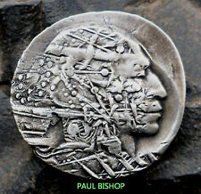 """HOBO NICKEL  """"SUBWAY BRAVE""""   BY PAUL BISHOP"""