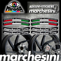 Adesivi Stickers MARCHESINI  FORGED ALLUMINIUM RACING NERO MOTO ITALIA FLAG TOP