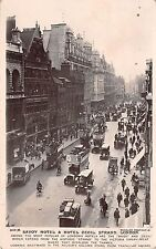 B92676 savoy hotel and hotel cecil strand london double decker bus  car  uk