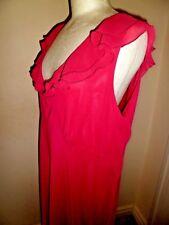 Stunning ANNA SCHOLZ for Simply Be Raspberry Chiffon Dress UK 20 NEW