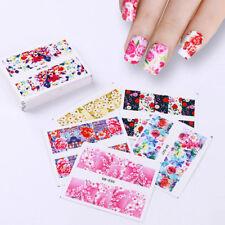 48 Patterns Flower Water Transfer Nail Art Stickers  Decals Rose Sakura