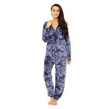 Womens Velvet Onsie1 jumpsuit Sleepwear hood lot velour all in one melange-wear