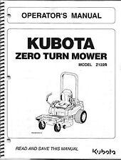 Kubota Z122R Zero-Turn Mower Operator Manual