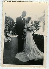 PHOTO ANCIENNE - COUPLE MARIAGE GÉANT CURIOSITÉ - GIANT FUNNY - Vintage Snapshot