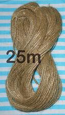 25M Natural Jute Rustic Hessian Twine String Craft Cord Sisal Yarn Hanging Tag